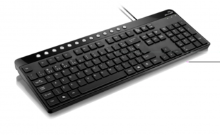Multilaser Teclado Multimídia Chocolate USB Preto TC143
