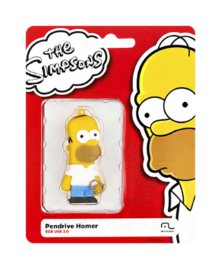 Pendrive The Simpsons Homer 8GB Multilaser PD070 na internet
