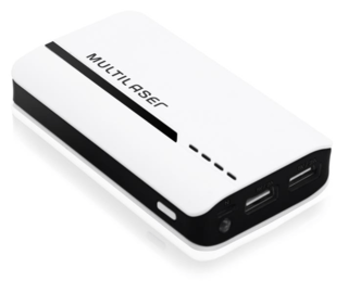 Carregador Portátil Multilaser Power Bank 4500 Mah Cb077
