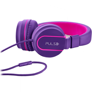 Headphone Pulse On Ear Stereo Rosa/Roxo - PH161 na internet