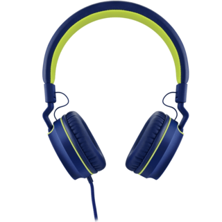 Headphone Pulse On Ear Stereo Azul/Verde - PH162