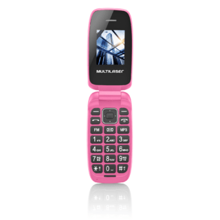 Celular Multilaser Flip Up, Câmera, MP3, Dual Chip - Rosa -
