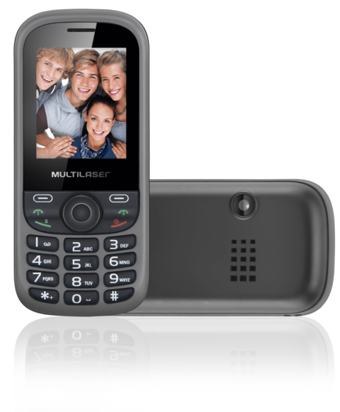 Celular Up 3chip Quad Cam Mp3/4 Fm Preto/cinza - P3274
