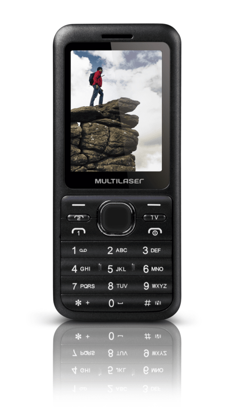 Celular Multilaser View 2 Chip - Cinza - P3266