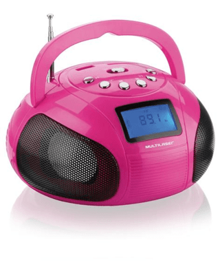 Caixa De Som Mini Boom Box 10w Multilaser - Rosa - Sp146