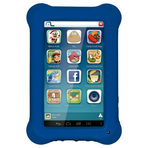 Tablet Infantil - Kid Pad Azul - Multikids NB194