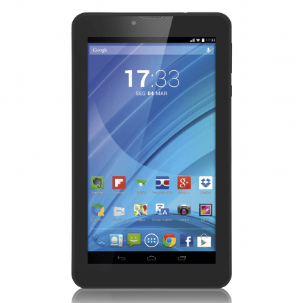 Tablet Multilaser Preto M7 3G Quad Core Câmera Wi-Fi Tela Hd