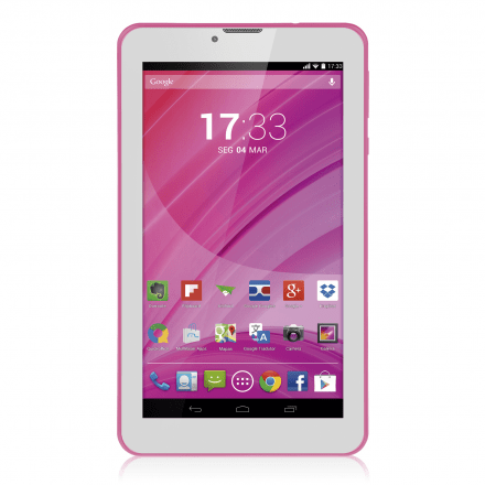 Tablet Multilaser Rosa M7 3G Quad Core Câmera Wi-Fi Tela Hd