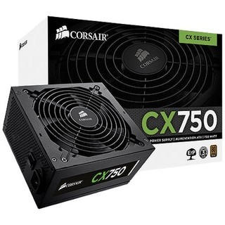 Fonte Corsair 750W CX750 80 Plus Bronze - CP-9020015-WW