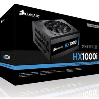 Fonte Corsair 80Plus Platinum 1000W HX1000I ATX - CP-9020074-WW