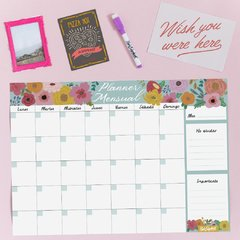 Planner mensual Flores