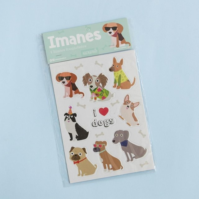 Set de imanes perritos