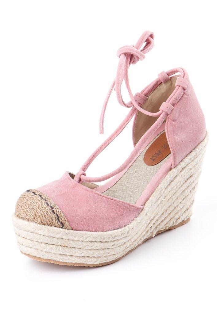 77a8f1baeb8a9 Lola .- Sandalia taco chino Rosa Nude - Rosevelt Shoes