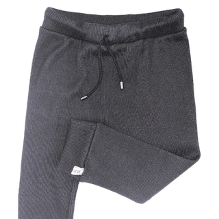 Baggy black morley cotton trousers. Lightweight, soft and of quality, with elastic waist and black pass through with nikel finishes. Unisex. Very light and quality, very comfortable. It is a super cool and versatile lounge garment. A basic that can be use