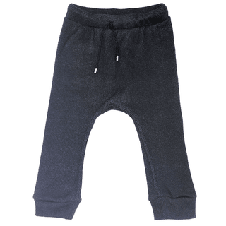 black cotton baggy pants