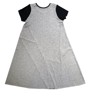 modal mélange gray dress - with a big black beam in the front - inspiration: BOWIE - so comfortable and so easy to use - super cool - good fall - beautiful surrounding feeling because we did not do side seams