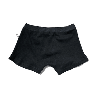 Peruvian white cotton boxer combined with black morley - elastic waist - unisex