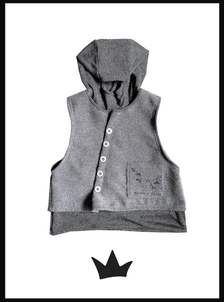 gray cloth vest - 2 garments in 1