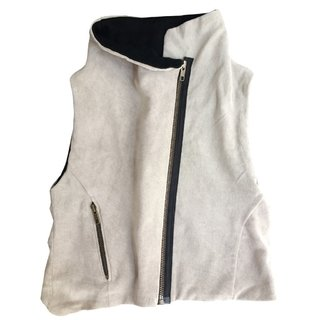 gray 100% cotton grey vest