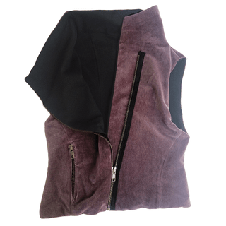 100% purple cotton vest