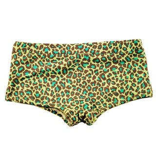 green - animal print swimsuit