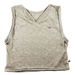 sandy sleeveless t-shirt