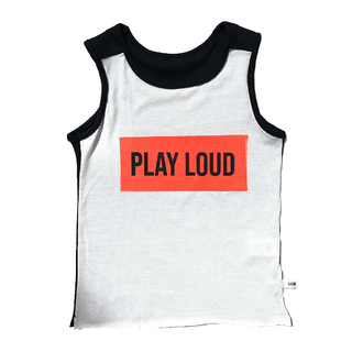 PLAY LOUD sleeveless t-shirt