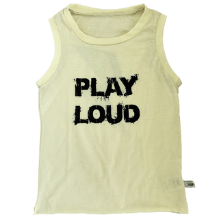 PLAY LOUD sleeveles t-shirt