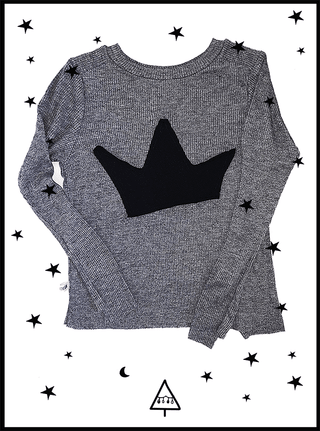 long sleeve t-shirt with crown 4-5Y