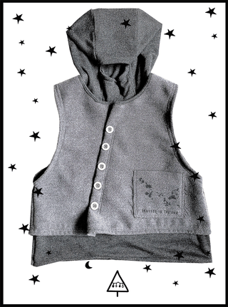 GRAY cloth vest 2-3Y