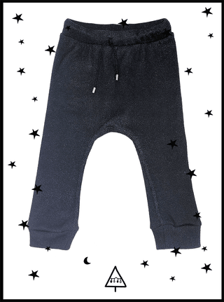 black cotton baggy pants 6-7Y