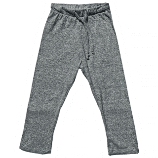 mélange gray cotton pants