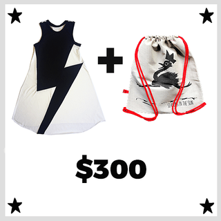vestido BOWIE + backpack