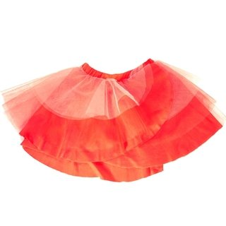 Red tutu skirt with very soft modal base, and red tulle and coral voiles. A lot of volume and movement without losing freedom and comfort. irregular.