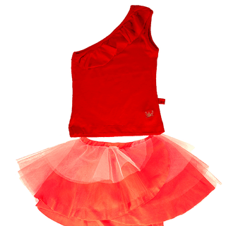 red tutu and top set
