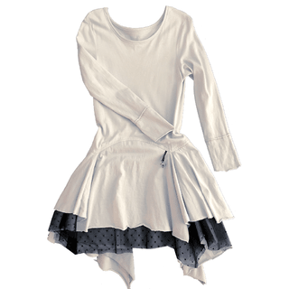 SILVER cotton tutu dress
