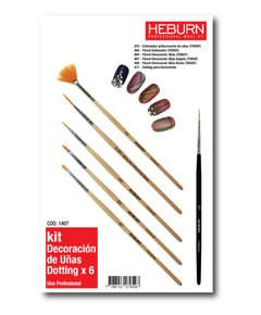 KIT DECORACION DE UÑAS CON DOTTING X 6