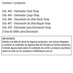 KIT UÑAS DECORACION TORAY x 7 - comprar online