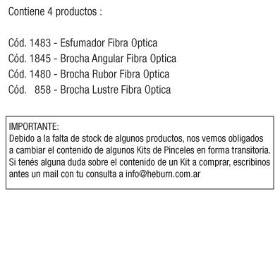 KIT BROCHAS FIBRA OPTICA x 4 - comprar online