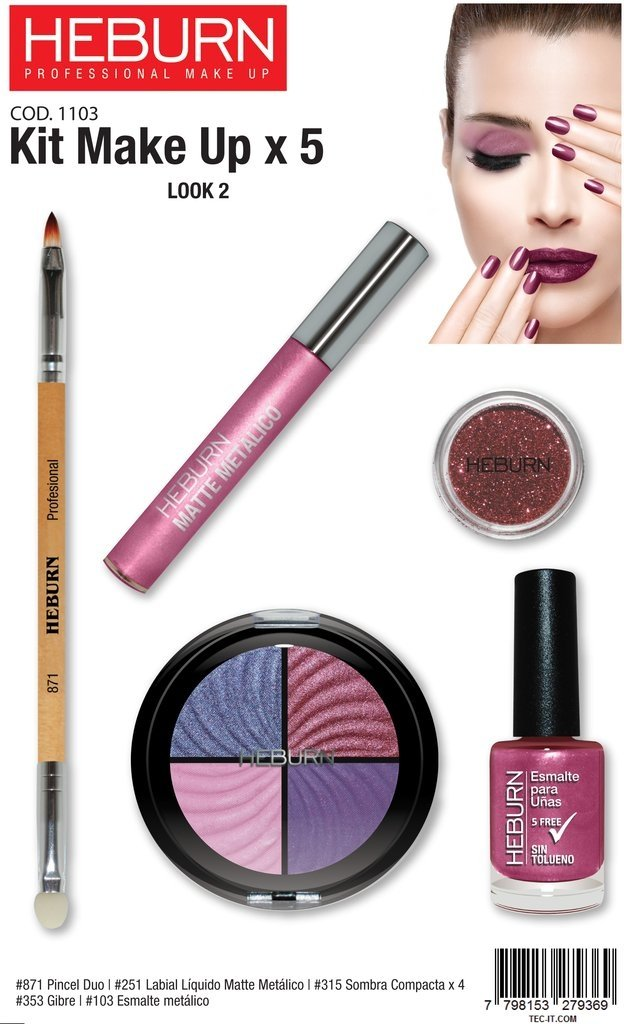 KIT MAKE UP X 5 - comprar online