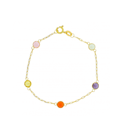 PULSEIRA KIDS COLORS JOIA EM OURO 18K