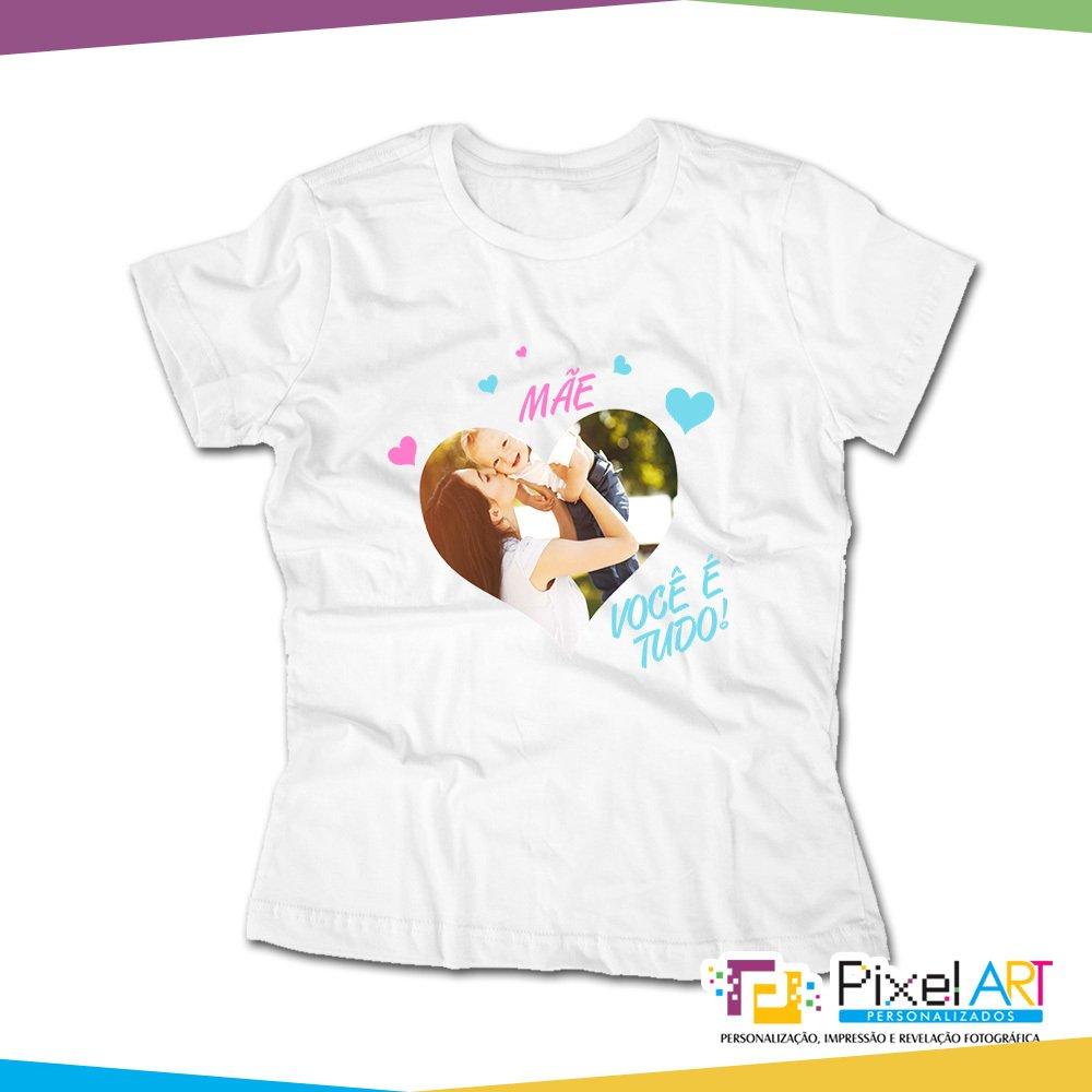 f8a5a9daf7e69 Camiseta Personalizada Dia das Mães com Foto| Pixel Art