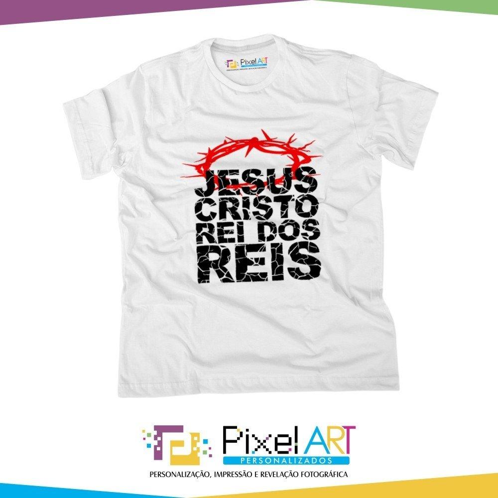 722ca905458 Camiseta Gospel - Jesus Cristo Rei dos Reis | Pixel Art