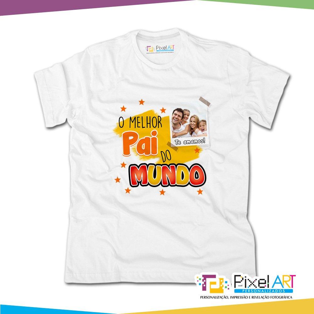 e171f9877 Camiseta Personalizada dia dos Pais o melhor pai do mundo