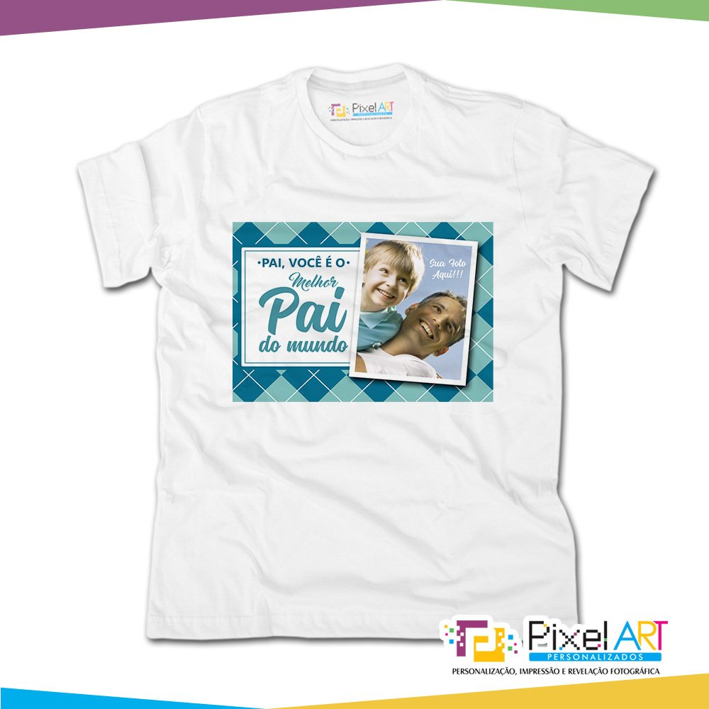 202efcd02 Camiseta Personalizada dia dos Pais pai você é o melhor pai do mundo