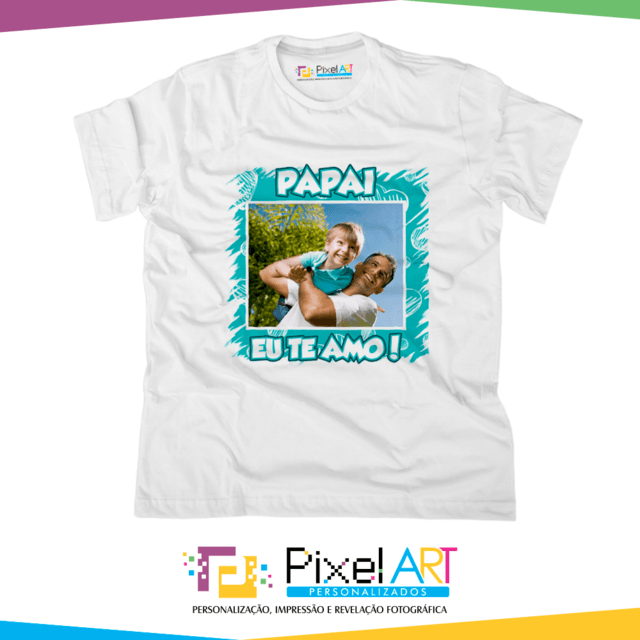 Camisetas Personalizadas Dia Dos Pais Pixel Art Filtrado