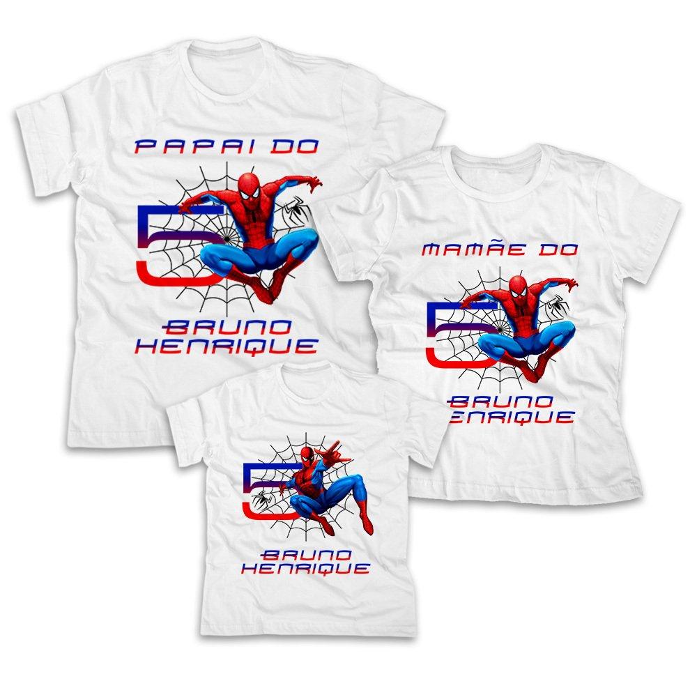 3d58c94401 Camisetas Personalizadas Homem Aranha