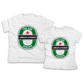 Camiseta Personalizada para Noivos  abfbd33a6668f
