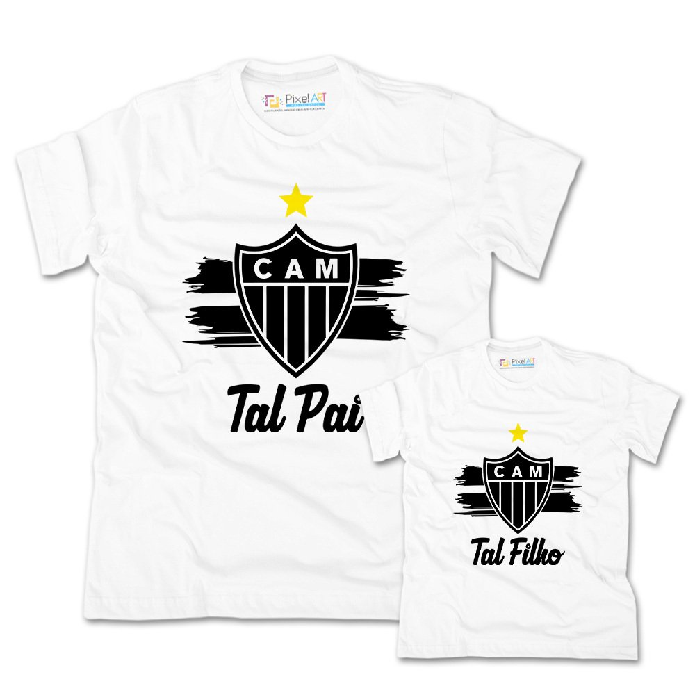 8f0302db8dd3a1 Camisa Tal Pai Tal Filho Atletico Mineiro   Pixel Art Personalizados
