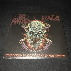 Paganfire/Nunslaughter - Obscured Visions of Satanic Arson Cd Digipak